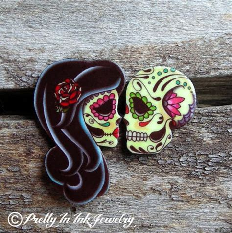 dia de los muertos couple tattoos ashes to ashes set of rings forever day of the