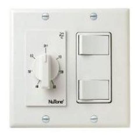 timer switch for bathroom fan nutone vs67wh 60 min timer 2 on off switches white bath