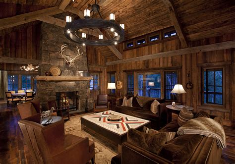 gorgeous log home with wrap around porch home design