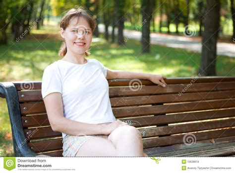 woman on bench woman on bench royalty free stock images image 10638619
