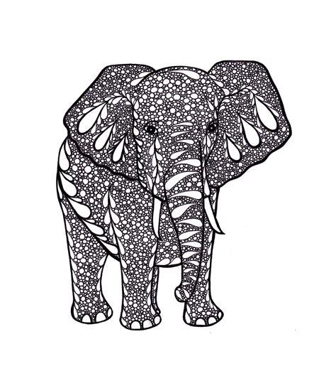 doodle drawings to print elephant zentangle inspired print pdf printable