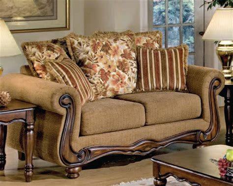 Floral Fabric Sofa Set by Odysseus 2 Macy Brown Floral Fabric Sofa Set By