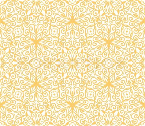 yellow vintage pattern yellow floral pattern stock vector colourbox