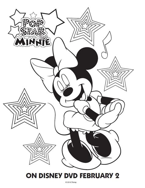 happy birthday mimi coloring pages pop star minnie mouse printable coloring pages friends