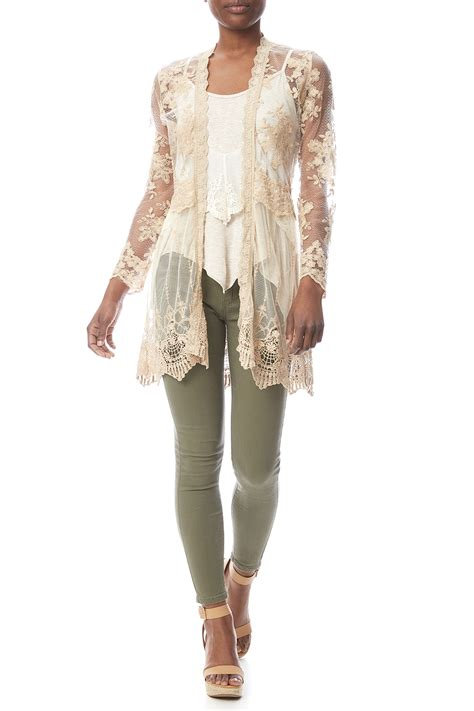 Lace Cardigan kaktus lace cardigan from nebraska by a boutique
