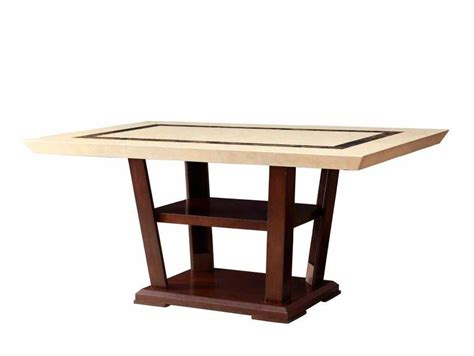 Aico Dining Room Marble Top Dining Table Co441 Urban Transitional Dining