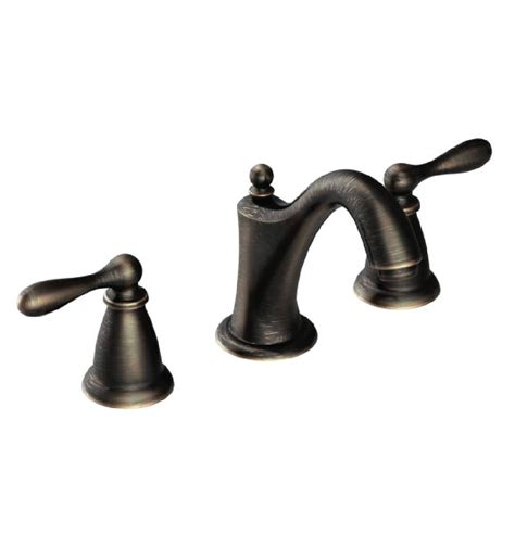 moen bathtub faucets moen ca84440brb caldwell 4 or 8 two handle high arc bathroom faucet bronze