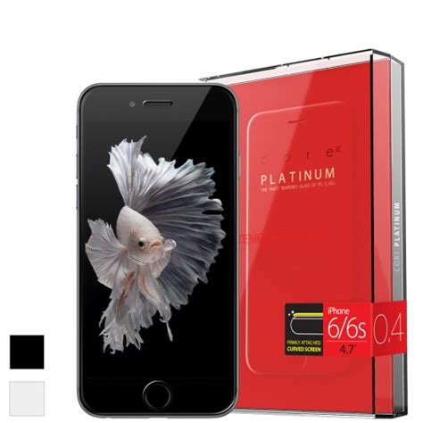 Tempered Glass Platinum Araree Curved Platinum Tempered Glass Screen Protector For Iphone 6 6s