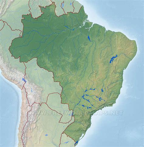brazil physical map brazil physical map