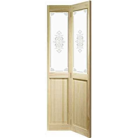 buy clear pine bi fold door with