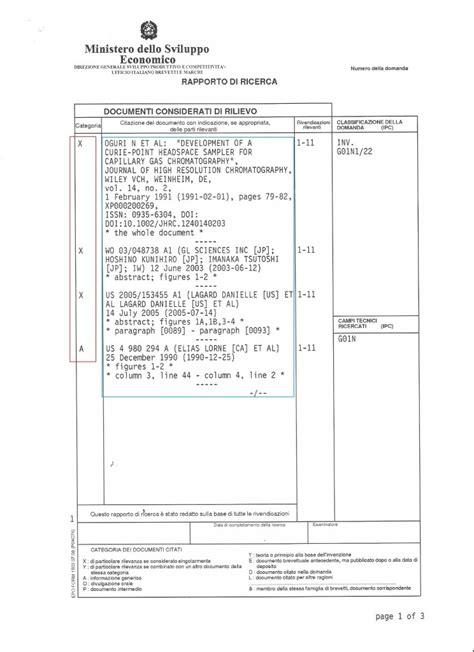 ufficio brevetti italiano ricerca rapporto di ricerca brevetto ufficio marchi e brevetti