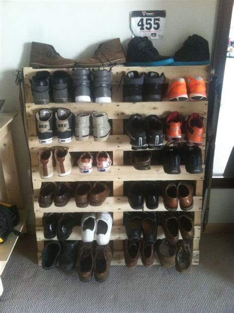 pallet shoe storage pallet shoe rack totally doing this although i will