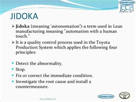 Toyota Meaning Jidoka Jidoka Meaning Autonomation A Term Used In Lean