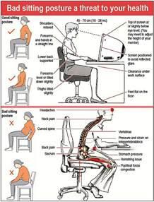 proper sitting postures dh information