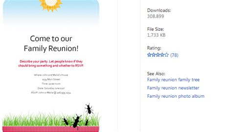 June 2014 Af Templates Family Reunion Templates