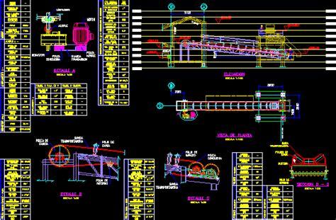 conveyor belt dwg section  autocad designs cad