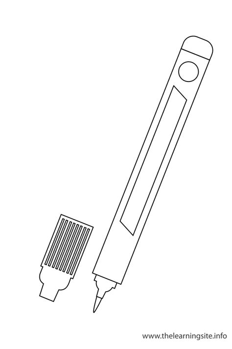 coloring book for markers classroom objects coloring pages