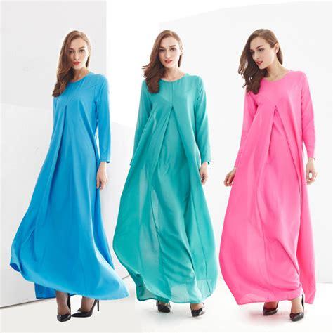 Kasual Maxi Dress Baju Muslim Wanita Menara 2015 dress muslim indonesia clothing fashion sleeve casual muslim dress islamic