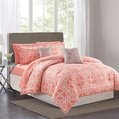 queen bed in a bag sets sweet home collection pottia 9 piece queen bed in a bag