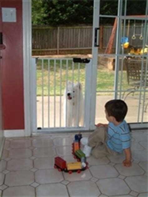 Patio Door Baby Gate by Lock N Block Sliding Door Gate By Cardinal Gates For