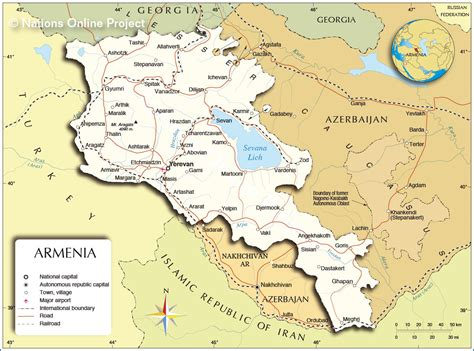 map of armenia political map of armenia nations project
