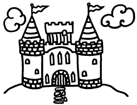 coloring page castle castle coloring pages coloringpages1001