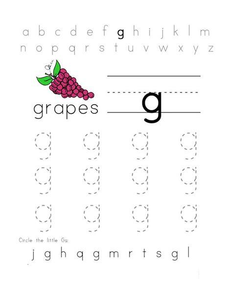 trace letter g for better handwriting kiddo shelter