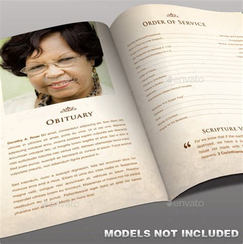 photoshop program template obituary program template 19 free word excel pdf psd