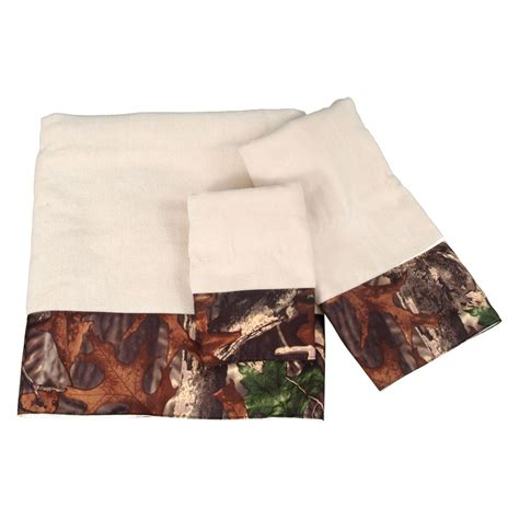 camo bathroom accessories camo bathroom decor 3 piece camouflage cream towel set