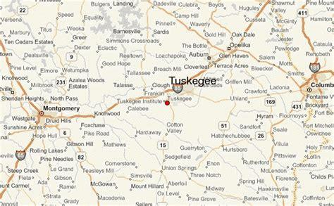 map of tuskegee alabama tuskegee location guide