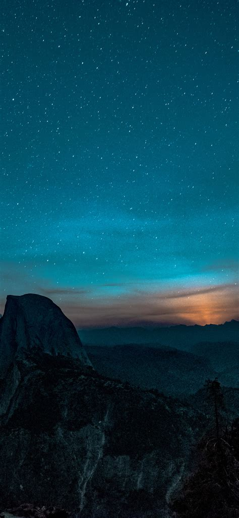 ns mountain night sky star space nature wallpaper