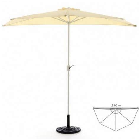 ombrelloni per terrazzi ombrellone da parete per balcone o terrazzo mezzaluna beige