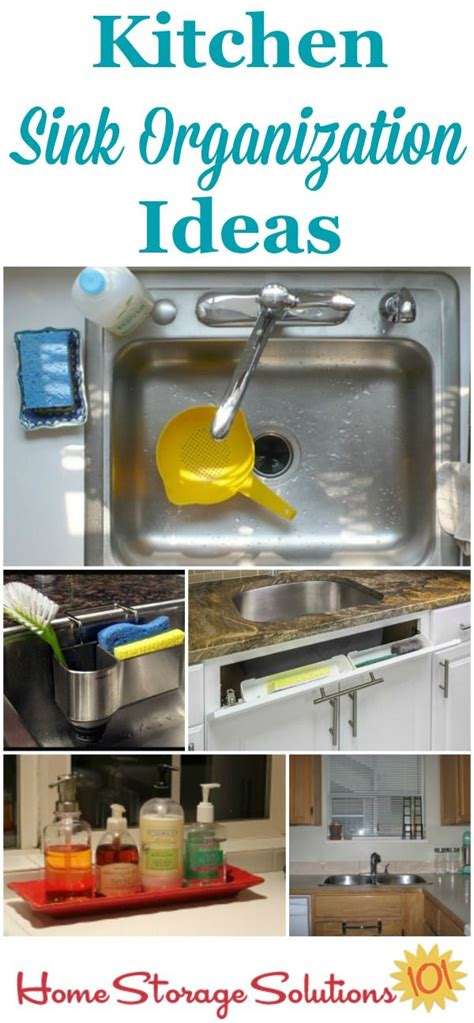 kitchen sink organization ideas storage solutions the
