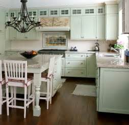 Cottage Kitchens Designs by French Landscape Mural In Cottage Kitchen Design