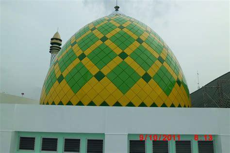 desain konstruksi kubah masjid foto karya kubah konstruksi besi baja berat pt qonaah