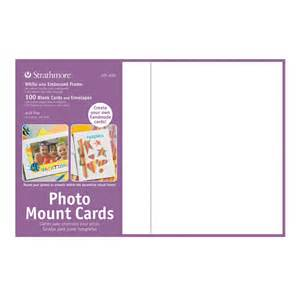 photo mount cards 100 pack white