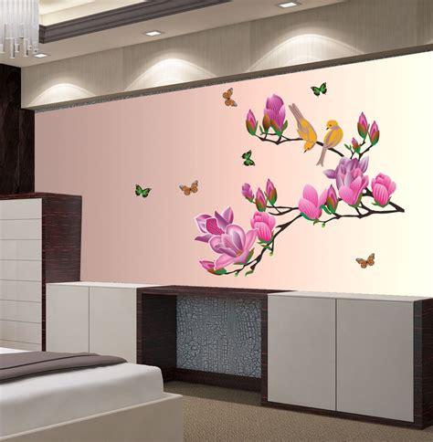 wallpaper for walls on flipkart new way decals wall sticker floral botanical wallpaper