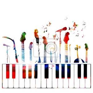 colorful music instruments background wall mural music wall mural music club pune shraddhatrivedi