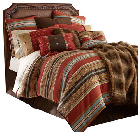 Southwestern Bedding Sets Navajo Striped Comforter Set Southwestern Comforters And Comforter Sets By