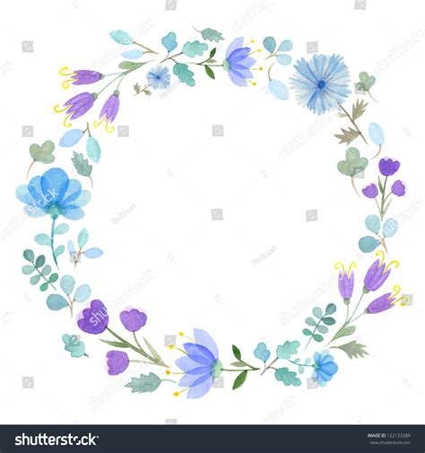 flower frame template watercolor flowers frame template 1 stock illustration