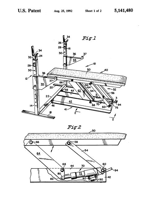 bench press person patent us5141480 bench press exercise apparatus google patents