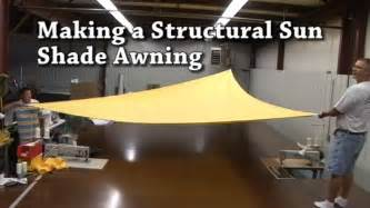 Structural awning sail shades triangular awning youtube