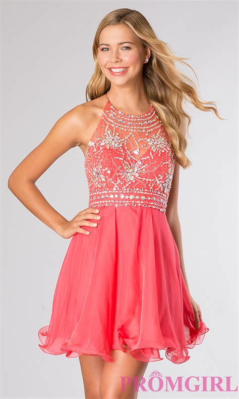 best dresses blush halter top homecoming dress promgirl