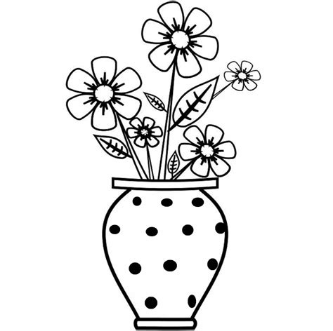 Flower Vase Drawing Step By Step by Vase And Flowers Drawing Vase Drawings And