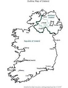 Ie Map Area Outline by Outline Map Of Ireland
