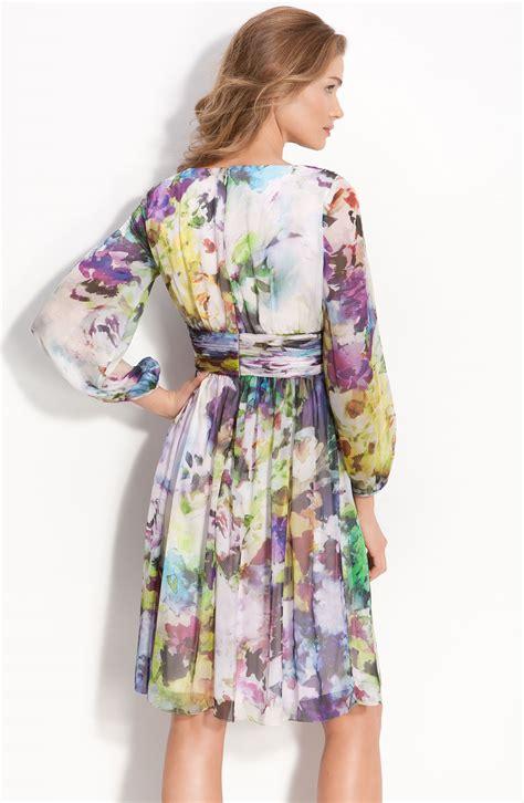 Dress Anak Pink Flower Belt Import maggy abstract floral print silk chiffon dress size 8p ebay