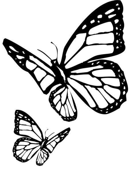 cartoon butterfly az coloring pages