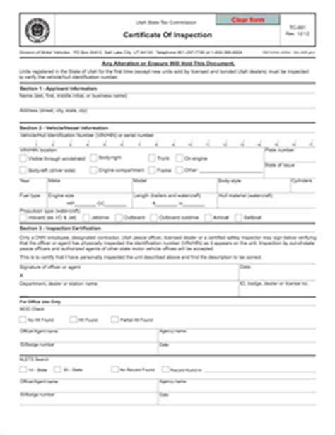 certificate of inspection template form tc 661 fillable certificate of inspection