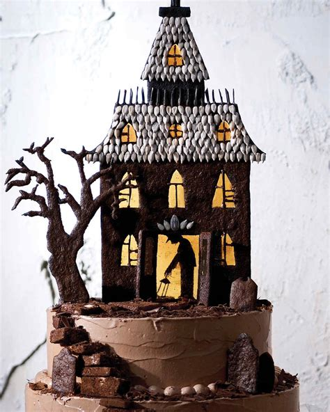 choco ghost house haunted house cake