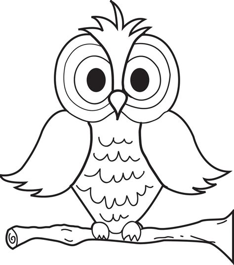 owl pictures to color free printable owl coloring page for supplyme